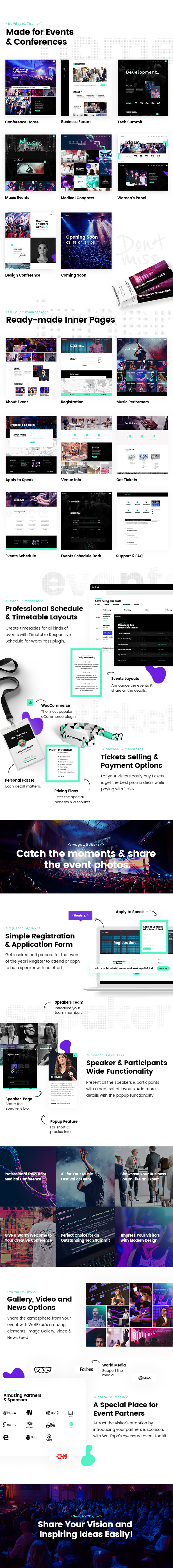 WordPress theme WellExpo - A Modern Event and Conference WordPress Theme (Events)